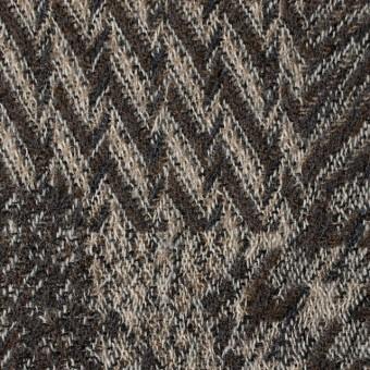 ウール×幾何学模様(ブラウン)×ジャガードガーゼ_全3色