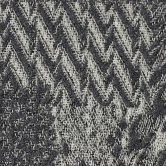 ウール×幾何学模様(グレー)×ジャガードガーゼ_全3色