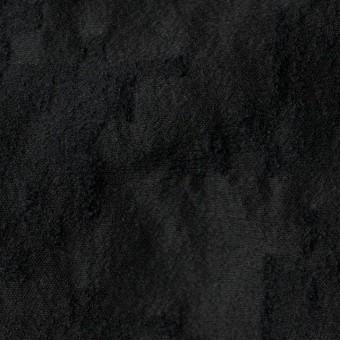 ウール&コットン混×無地(ブラック)×バックサテンジャガード