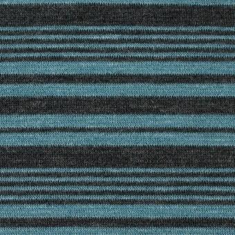 テンセル&ウール混×ボーダー(ブルーグレー)×天竺ニット_全2色