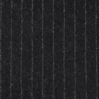 ウール×ストライプ(ブラック)×Wニット
