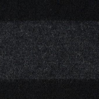 ウール×ボーダー(チャコールグレー&ブラック)×天竺ニット