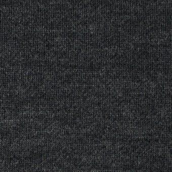 ウール×無地(チャコールグレー)×裏毛ニット