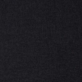 ウール×無地(ブラック)×圧縮天竺ニット