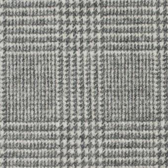 ウール&ナイロン混×グレンチェック(ライトグレー)×千鳥格子_全2色