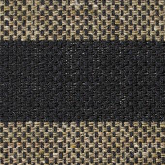 ウール&ナイロン×ボーダー(カーキベージュ&ブラック)×斜子織