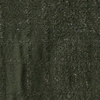 ウール×無地(ダークグリーン)×ツイードジャガード