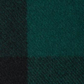 ウール×チェック(モスグリーン&ブラック)×モッサー