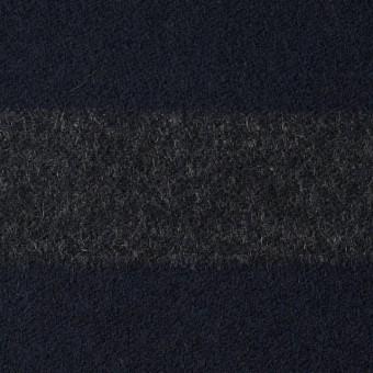 ウール&ナイロン×ボーダー(グレー&ネイビー)×フランネル