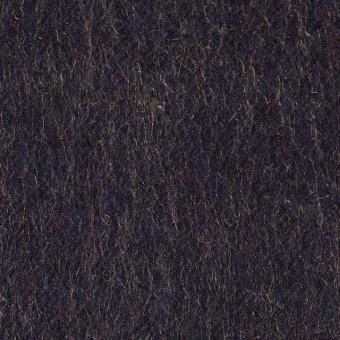 ウール&ナイロン×無地(パープル)×シャギー