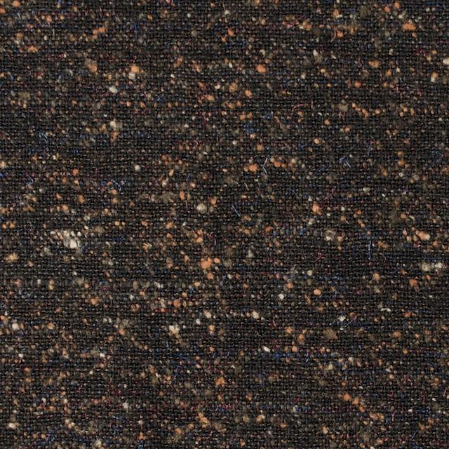 ウール&シルク×ブラウンミックス×ツイード_全2色 イメージ1