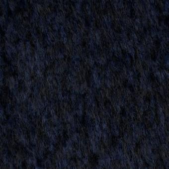 ウール×ミックス(ネイビー&ブラック)×シャギー