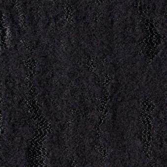 ウール&ナイロン混×無地(ブラック)×ジャガード