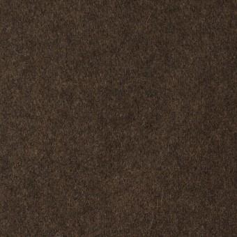 ウール&ポリエステル混×無地(ブラウン)×フラノ(フランネル)