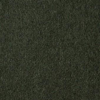 ウール×無地(ダークグリーン)×メルトン