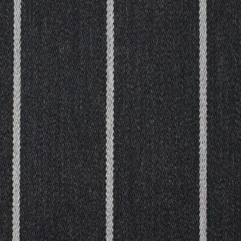 ウール×ストライプ(ライトグレー&チャコールグレー)×ベネシャン