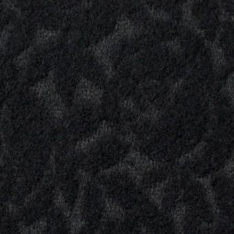 ウール&ポリエステル×フラワー(ブラック)×ジャガード