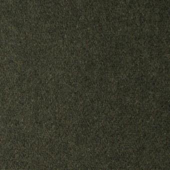 ウール&ナイロン×無地(カーキグリーン)×フラノ(フランネル)