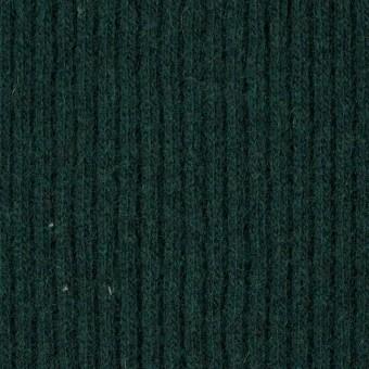 ウール&ポリエステル混×無地(ブリティッシュグリーン)×片面リブニット