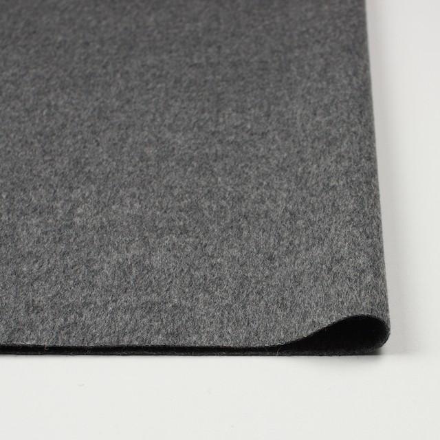ウール&カシミア×無地(グレー)×ビーバー イメージ3