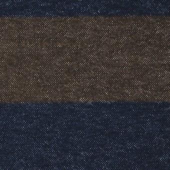 コットン×ボーダー(カーキブラウン&ネイビー)×フランネル_全2色