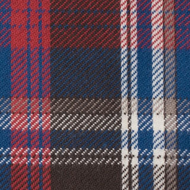 コットン×チェック(ブラウン&レッド、ブルー)×フランネル イメージ1
