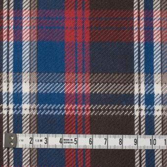 コットン×チェック(ブラウン&レッド、ブルー)×フランネル サムネイル4
