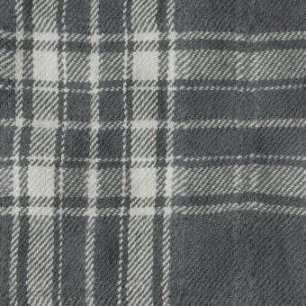 コットン&ウール×チェック(グレー)×ビエラワッシャー_全2色