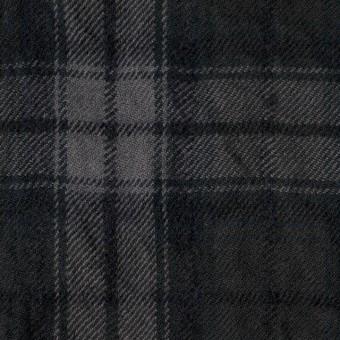 コットン&ウール×チェック(ブラック)×ビエラワッシャー_全2色