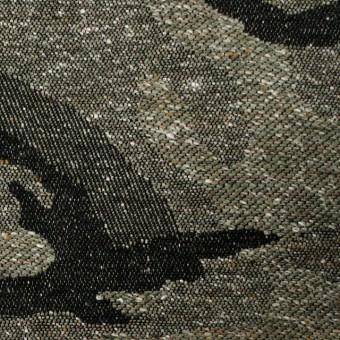 コットン&アクリル混×迷彩(グリーンティ)×ジャガード_全5色