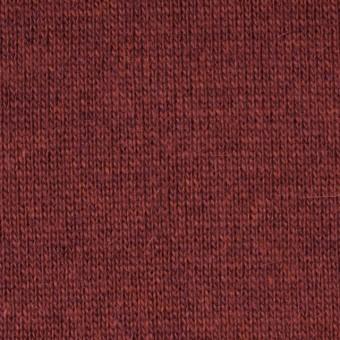 ウール&アクリル×無地(マルーンレッド)×天竺ニット_全5色