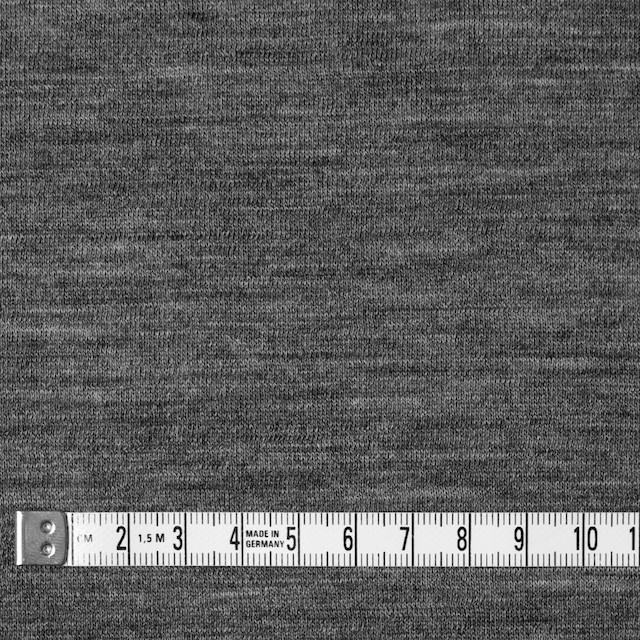 ウール&コットン×無地(グレー)×W天竺ニット イメージ4
