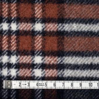 ウール&ポリエステル×チェック(レッドブリック、ブラック&グレー)×厚カルゼ サムネイル4