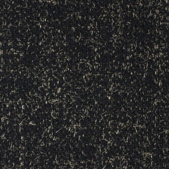 ウール&ナイロン×ミックス(ベージュ&ブラック)×ツイード