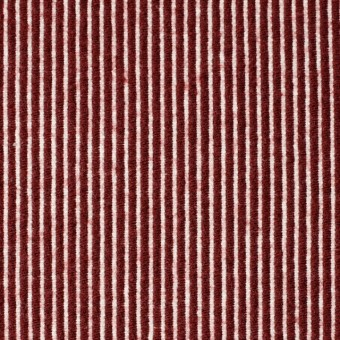 コットン&ウール×ストライプ(レッド)×コードレーン