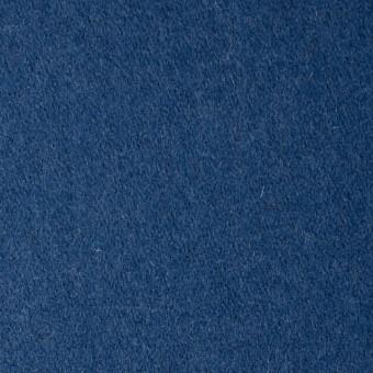 ウール×無地(ブルー)×フラノ(フランネル)