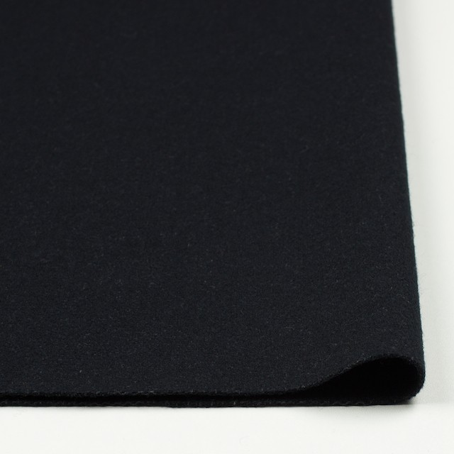 ウール×無地(ブラック)×フラノ(フランネル) イメージ3