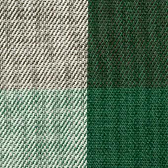 コットン×チェック(グリーン&ブラウン)×ビエラ