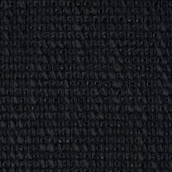コットン&リネン×無地(ネイビーブラック)×ホップサック(斜子織)