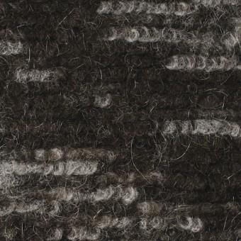 モヘア&ウール混×幾何学模様(グレー&チャコールブラウン)×ループニット_全4色_イタリア製