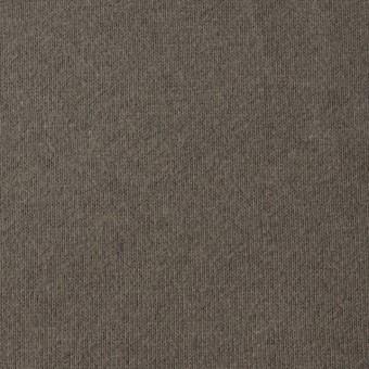 コットン×無地(チャコールブラウン)×裏毛ニット_全3色