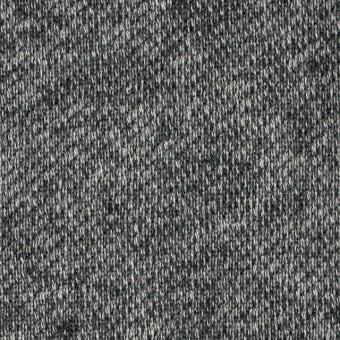 コットン×無地(チャコールグレー)×裏毛ニット