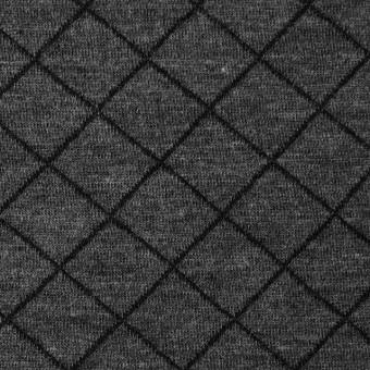 コットン&リヨセル×アーガイル(チャコールグレー)×W天竺ニット_全2色
