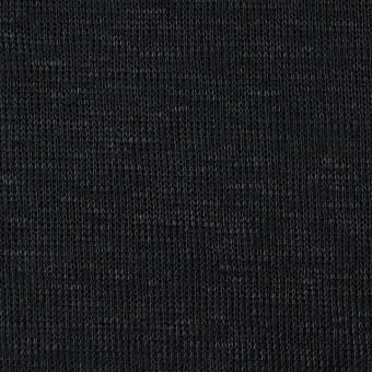 コットン&リネン×無地(ブラック)×Wニット(メッシュ&天竺)