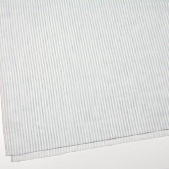 コットン×ストライプ(オフホワイト&ブルーグレー)×Wガーゼ サムネイル2