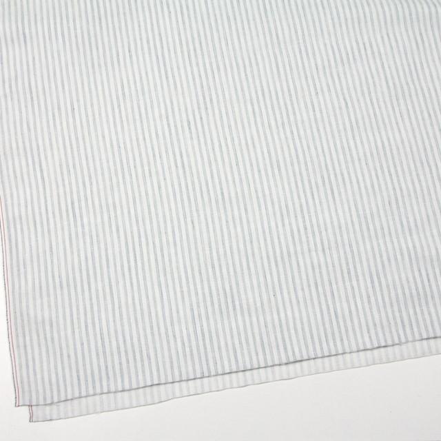 コットン×ストライプ(オフホワイト&ブルーグレー)×Wガーゼ イメージ2