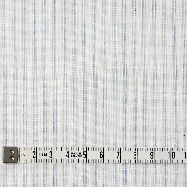 コットン×ストライプ(オフホワイト&ブルーグレー)×Wガーゼ イメージ4
