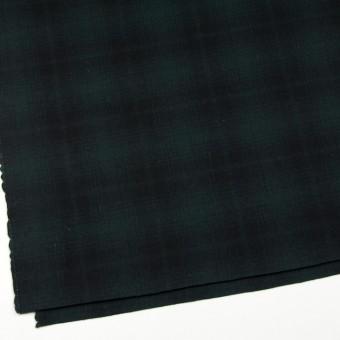 ウール&ナイロン×チェック(グリーン&ブラック)×フラノ(フランネル) サムネイル2