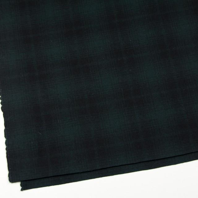 ウール&ナイロン×チェック(グリーン&ブラック)×フラノ(フランネル) イメージ2