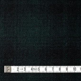 ウール&ナイロン×チェック(グリーン&ブラック)×フラノ(フランネル) サムネイル4